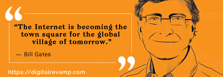Bill Gates Quote about Digital Marketing